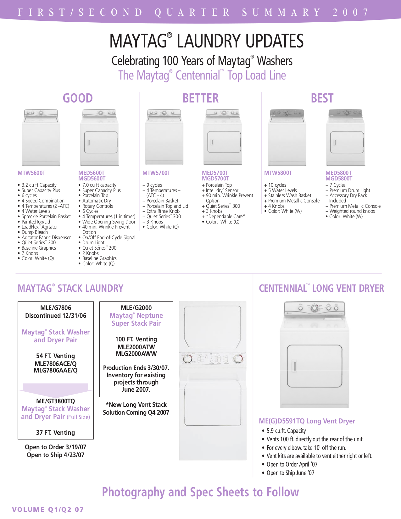 Pdf Manual For Maytag Dryer Epic Med9700s Old Edition Schematic Page Preview