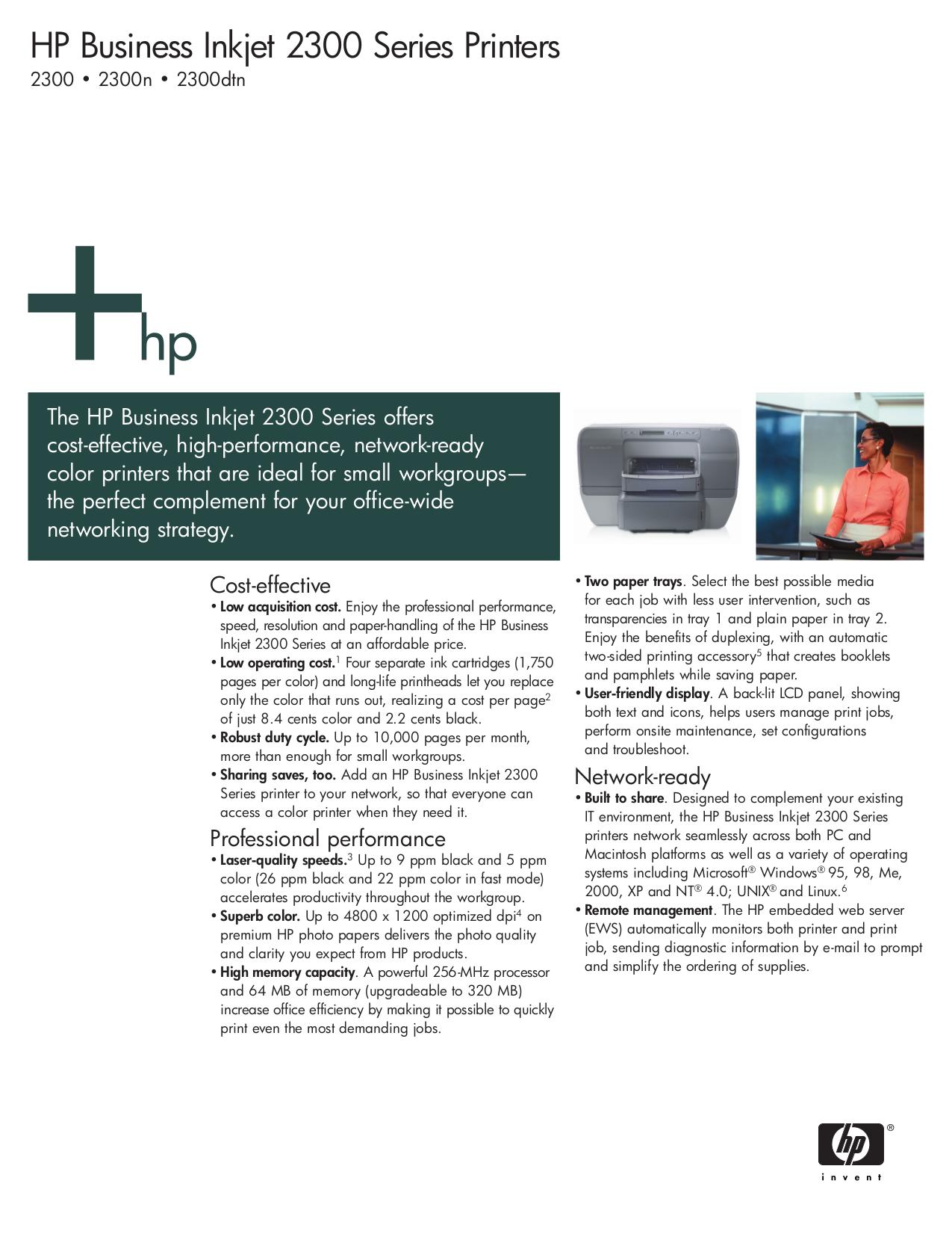 download free pdf for hp business inkjet 2300 printer manual rh umlib com HP 3015 HP 3800