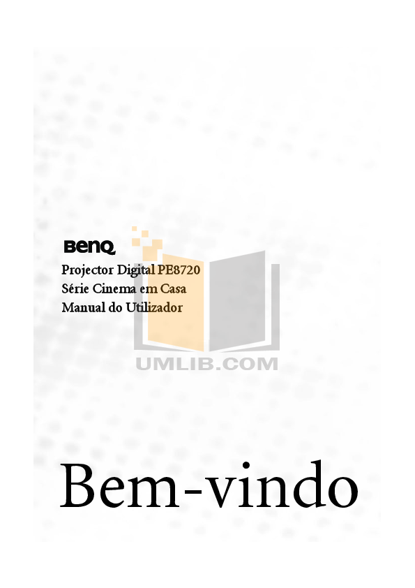 pdf for Benq Projector PE8720 manual