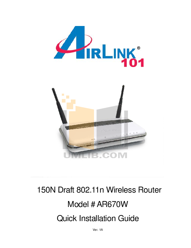 pdf for Airlink Other AWLH6070 Adapters manual