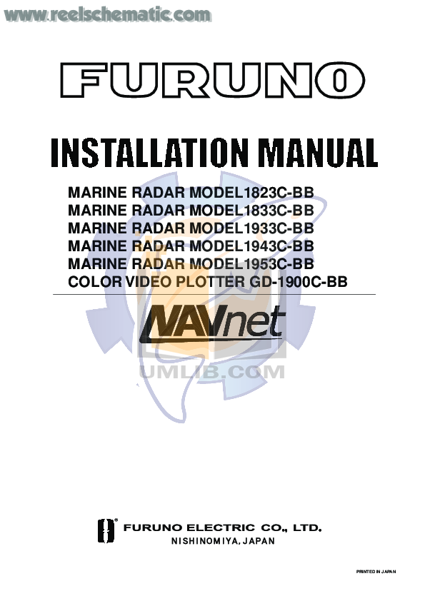 pdf for Furuno Other 1823C Radar manual