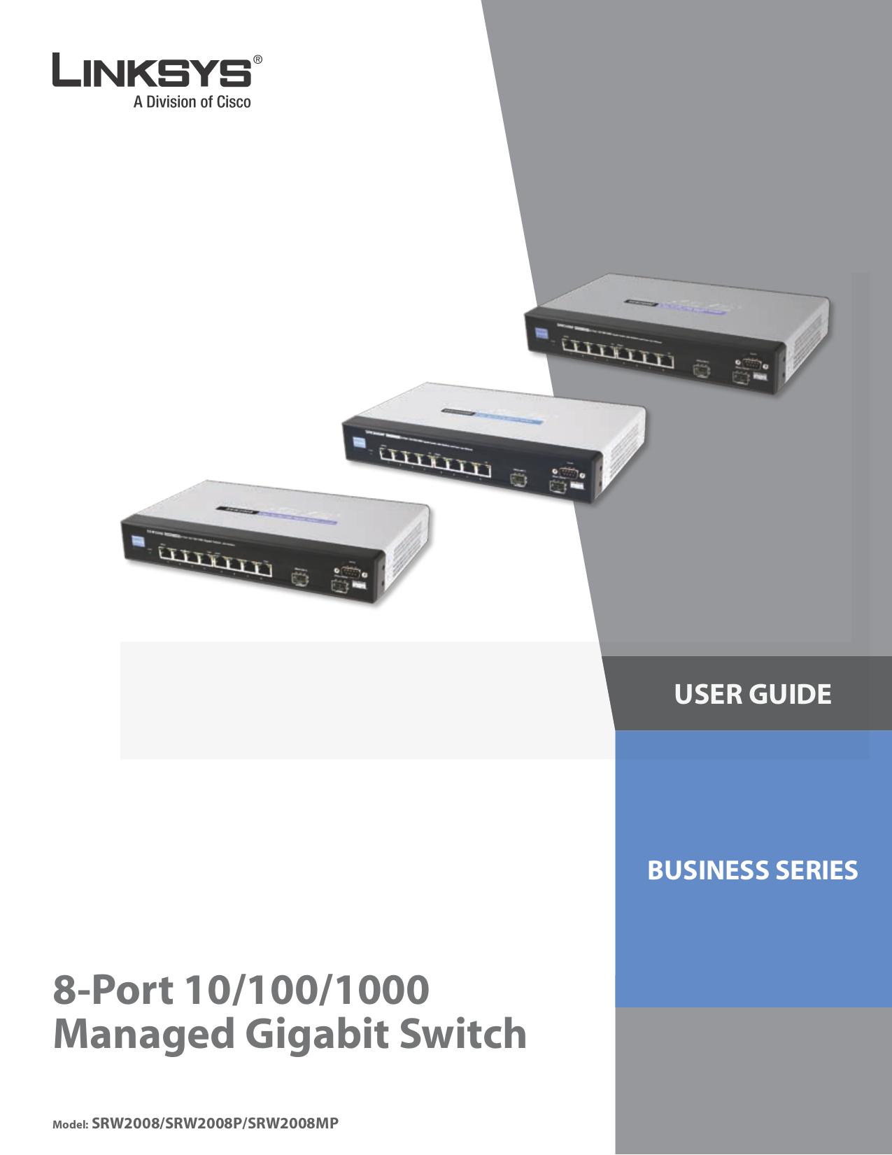 pdf for Linksys Switch SRW2008MP manual