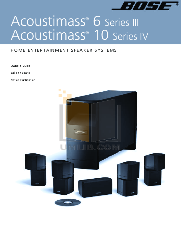 bose acoustimass 6 series ii manual