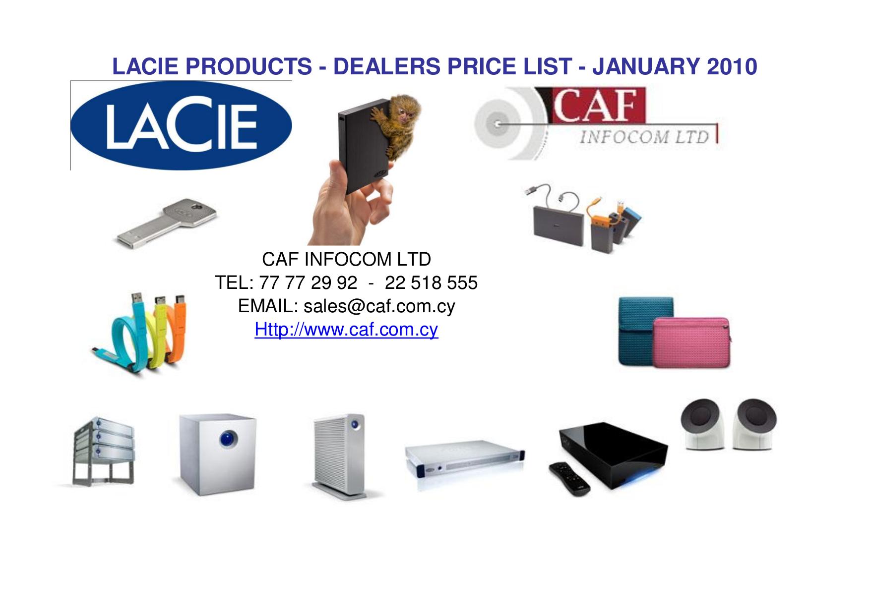 pdf for LaCie Storage 301907 manual