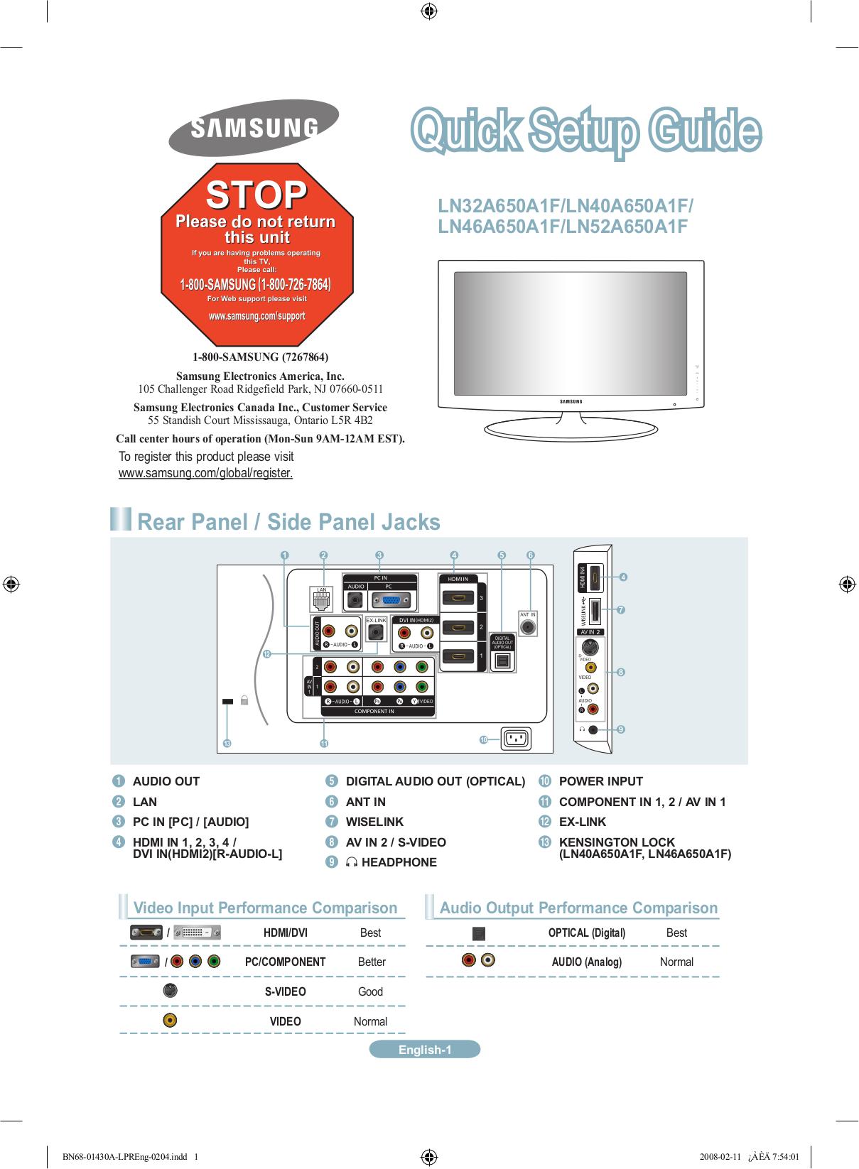 download free pdf for samsung ln52a650 tv manual rh umlib com Samsung Refrigerator Repair Manual Samsung Tablet Ce0168 Instruction Manual