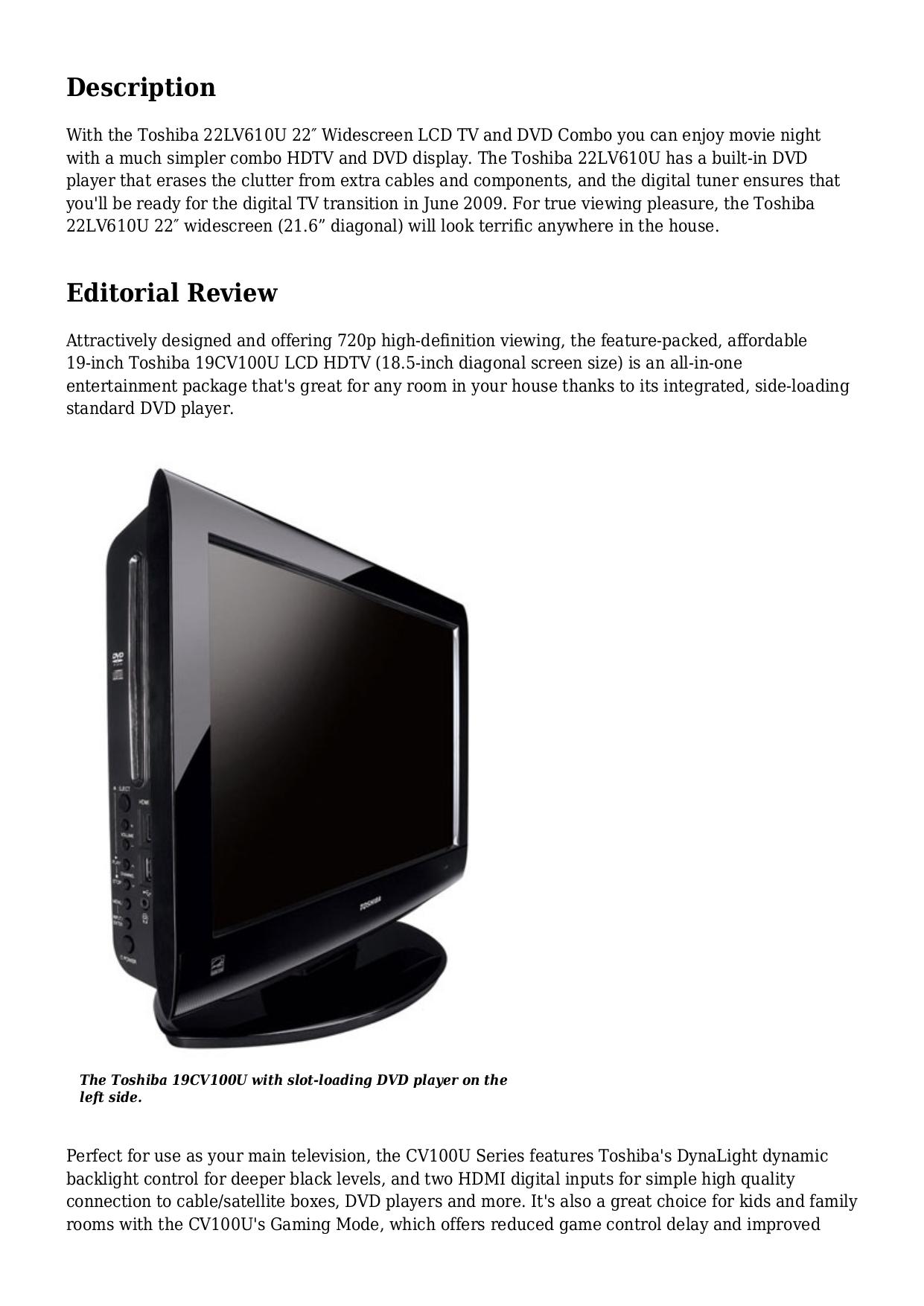 Toshiba Tv Dvd Combo Manual Whatsapp Status 22cv100u Wiring Diagram Regza 40ux600u Pdf Page Preview