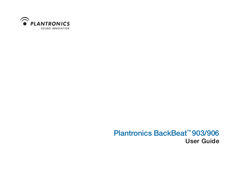Backbeat 903/903+: how to pair | plantronics.