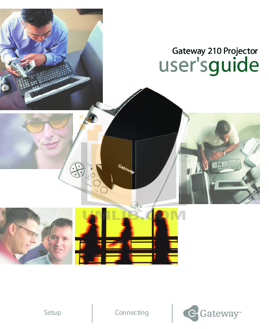 pdf for Gateway Projector 210 manual