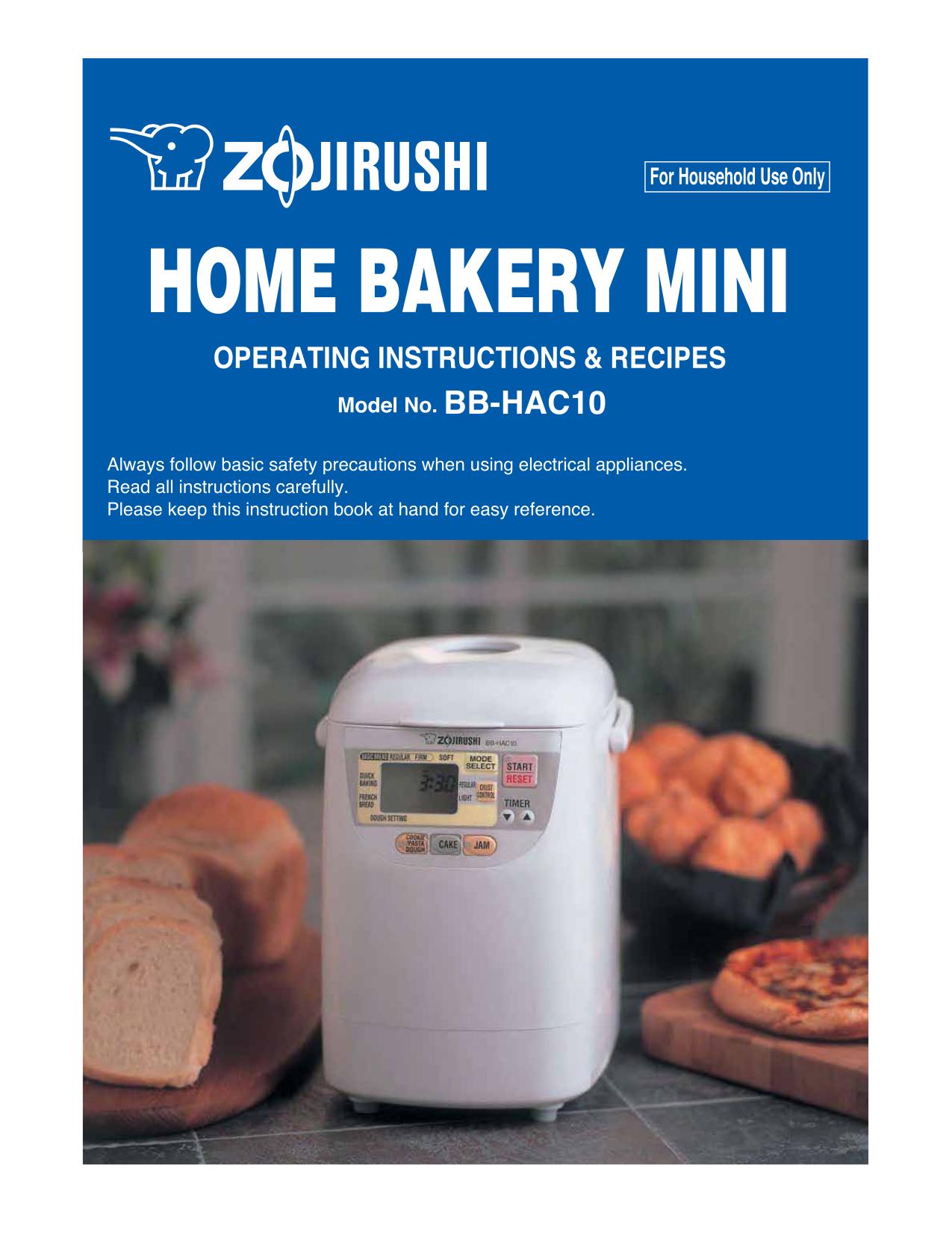 zojirushi bread machine manual