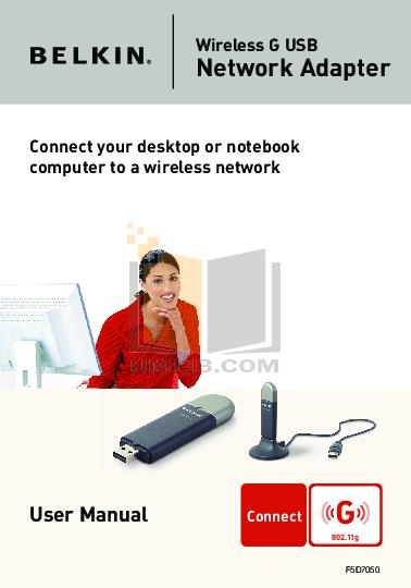pdf for Belkin Router F5D7050 manual