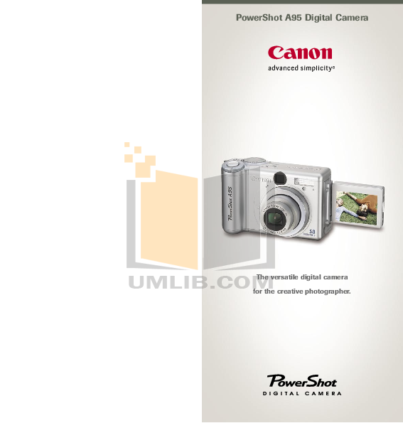 pdf for Canon Digital Camera Powershot A95 manual