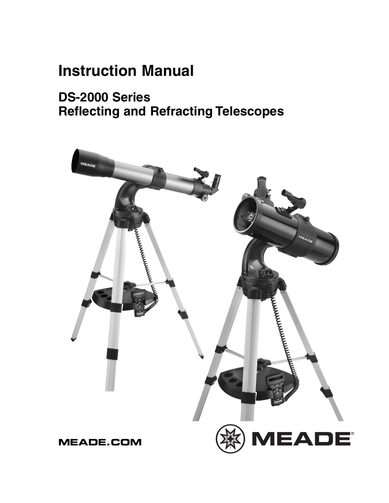 PDF manual for Meade Telescope DS-2102