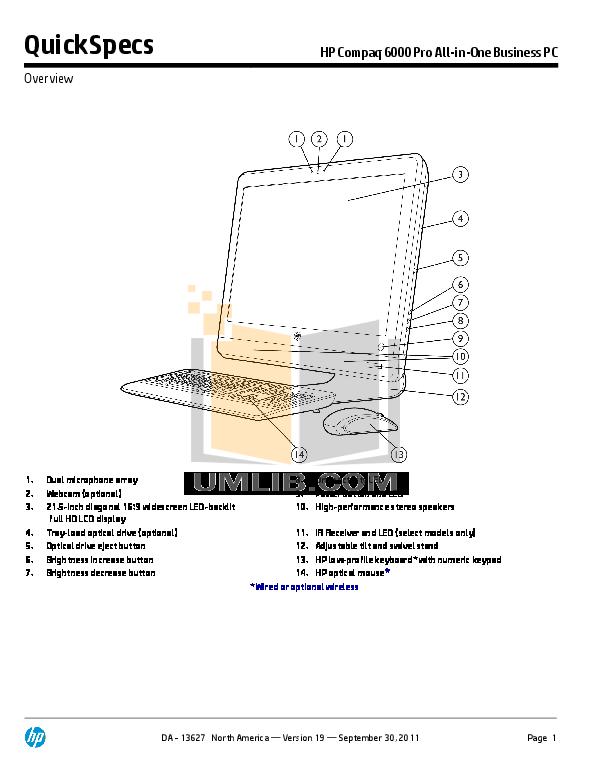download free pdf for hp compaq 6000 pro all in one desktop manual rh umlib com hp desktop 460 manual hp envy desktop manual