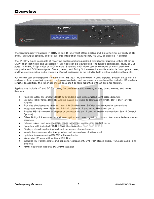 Audioplex Other S-2 IR Signal System pdf page preview
