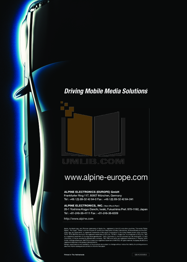 pdf for Alpine Other SPX-177R Car Speakers manual