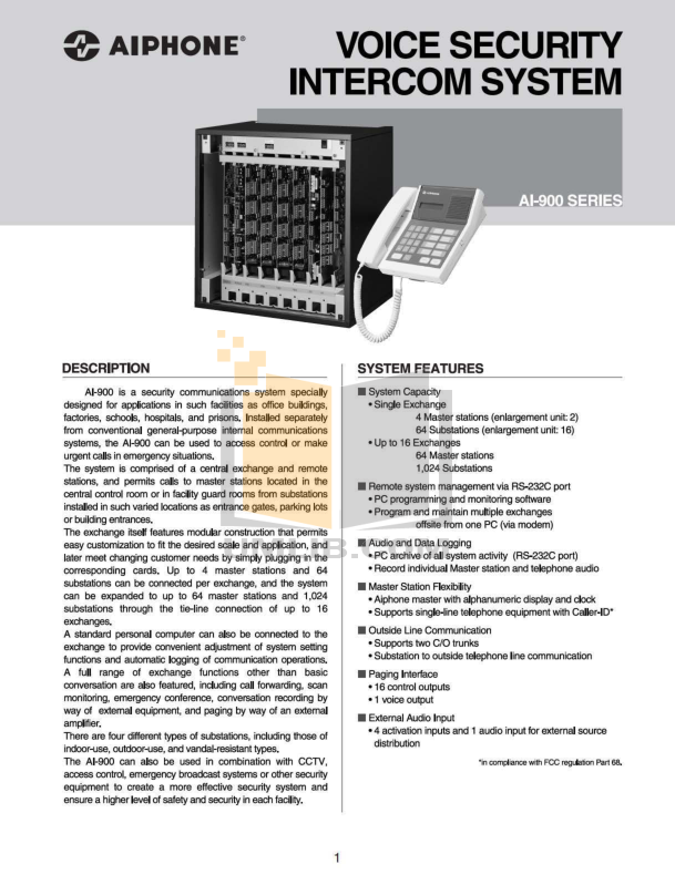 pdf for Aiphone Other MF-DL Intercoms manual