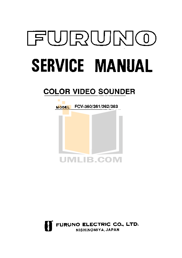 pdf for Furuno Other IB-681 Data modem manual