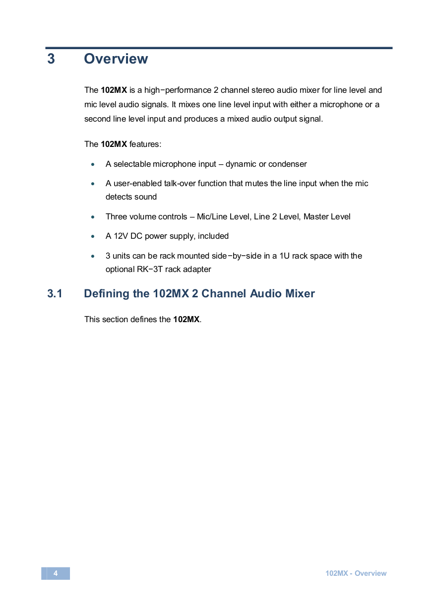 Kramer Other VM-50A Distribution Amplifiers pdf page preview