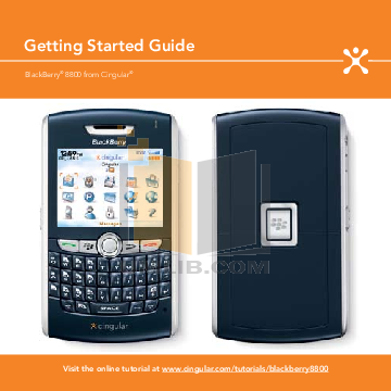 pdf for Blackberry Cell Phone 8800 manual