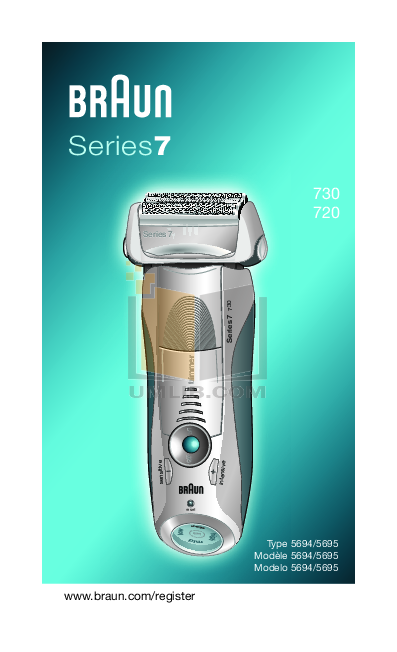 pdf for Braun Other Series 7 730 Shavers manual