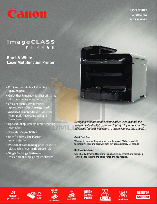 Canon imageclass mf4450 manuals.