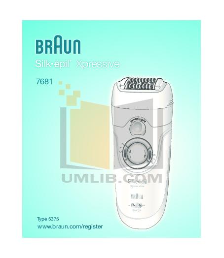 pdf for Braun Other Silk-Epil Xpressive 7681 Epilators manual