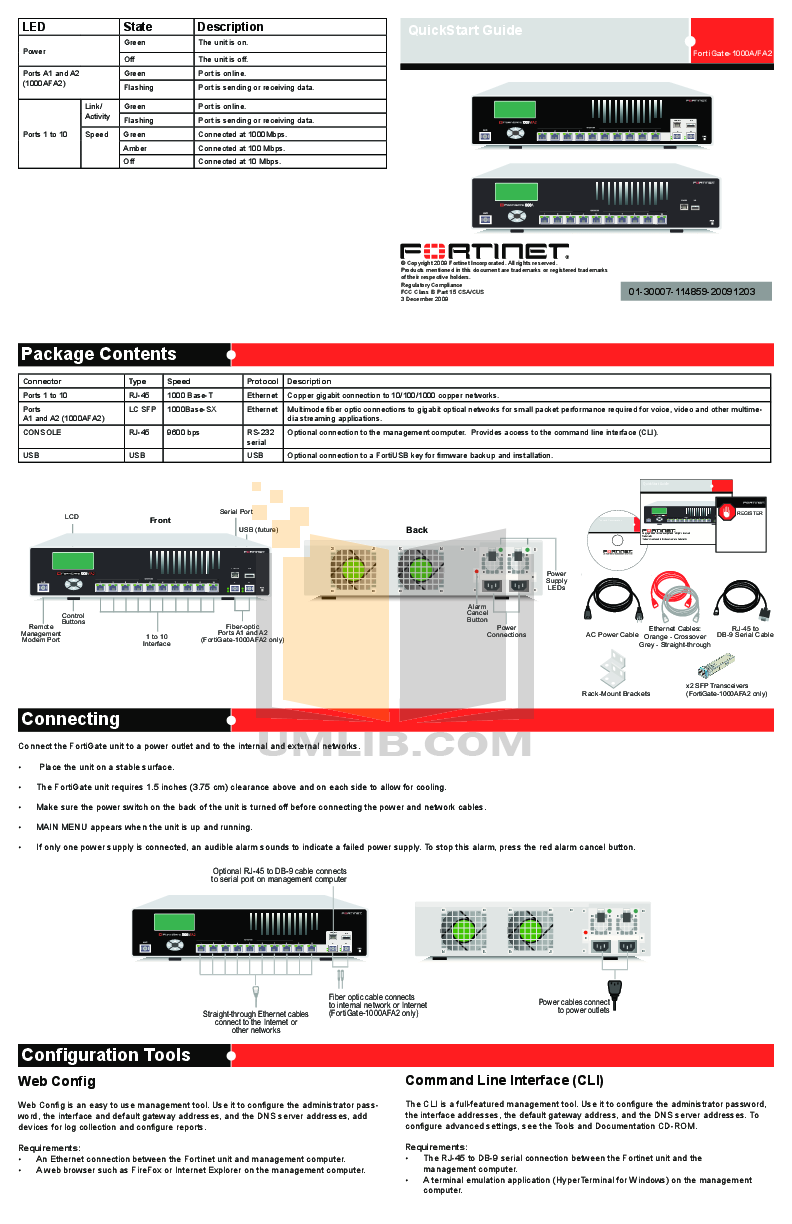 pdf for Fortinet Router FortiGate FortiGate-1000AFA2 manual