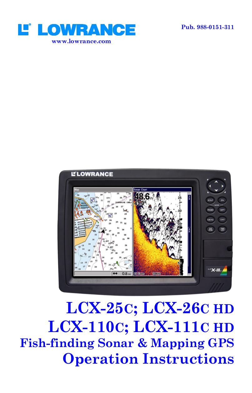 pdf for Lowrance GPS GlobalMap 7600C HD manual