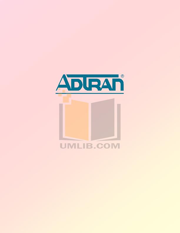 pdf for ADTRAN Switch NetVanta 1238 PoE manual