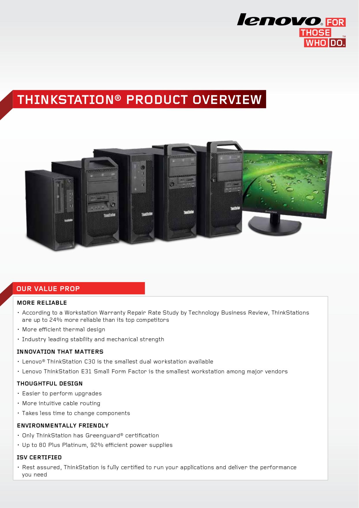 pdf for Lenovo Desktop ThinkStation D10 6427 manual