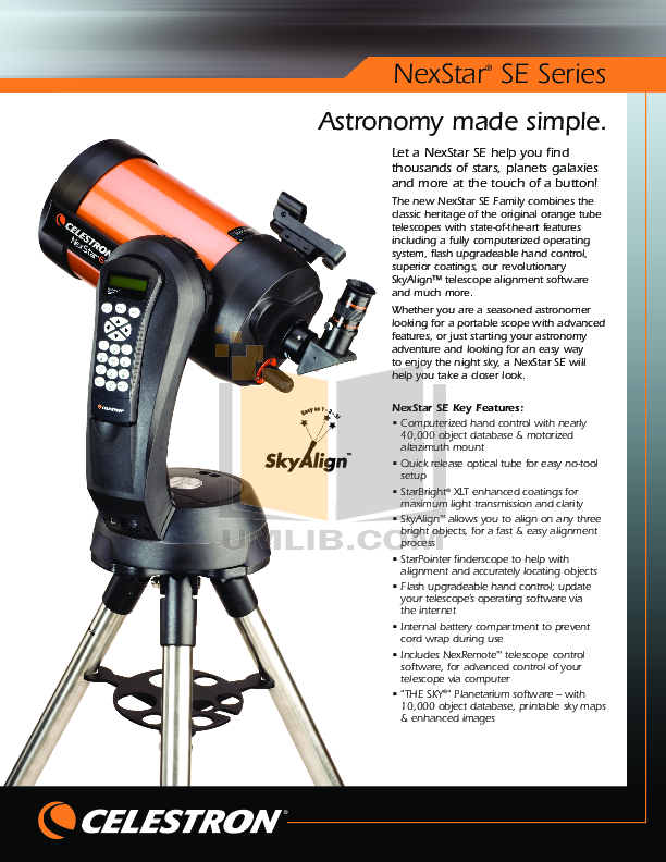 download free pdf for celestron nexstar 4se telescope manual rh umlib com celestron nexstar 4se user manual celestron nexstar 4 se notice francais