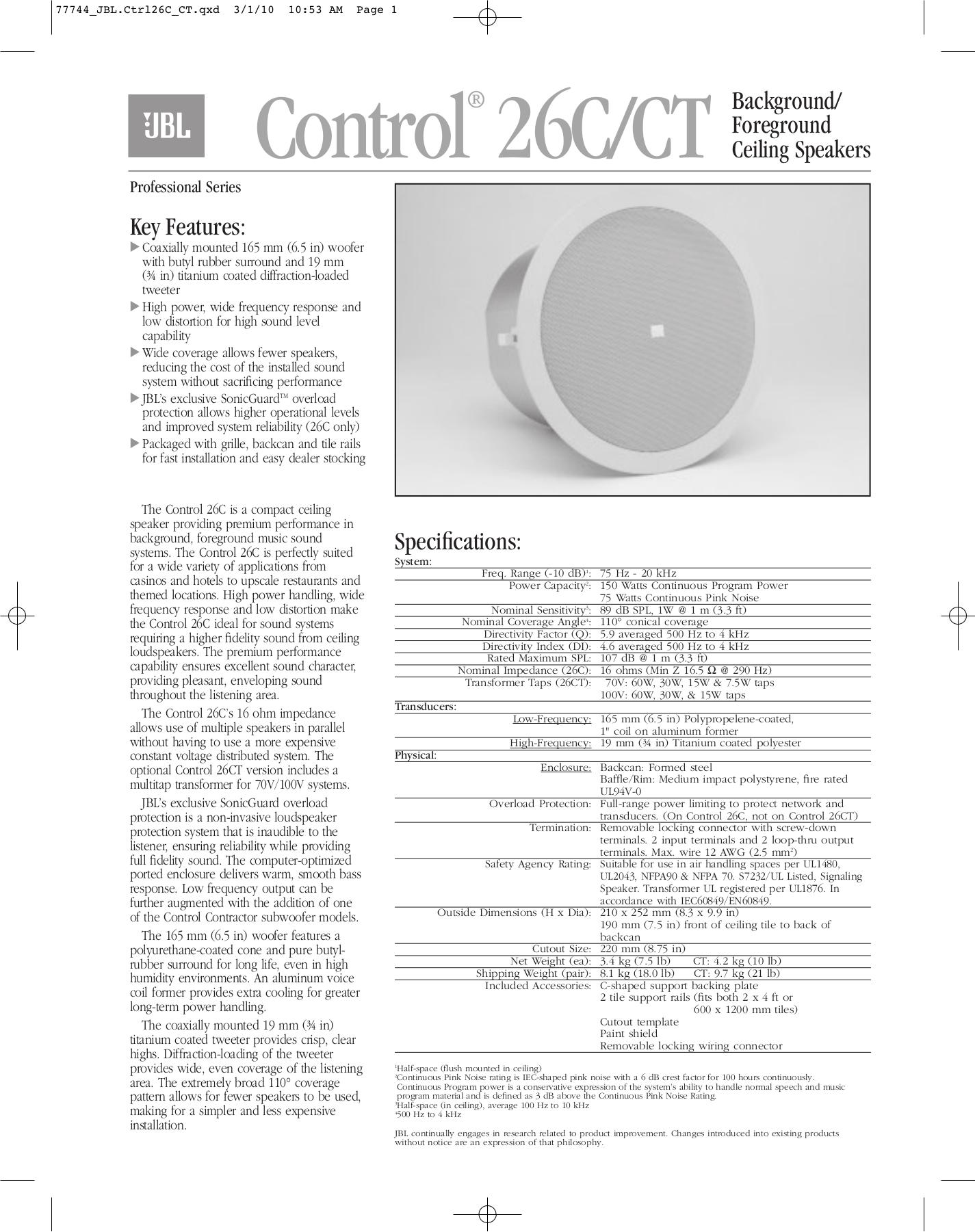 Jbl Mr826 Manualpdf T Score Table For Ecbi Mack Mr Wiring Diagram Tundra Radio Harness Get Free Image About