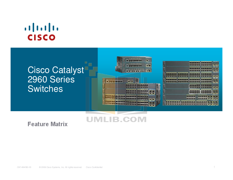 cisco catalyst 2960 series switches compare