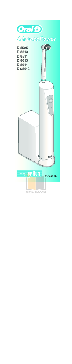 pdf for Braun Other D8525 Electric Toothbrush manual