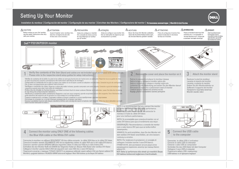 pdf for Dell Monitor P2312H manual