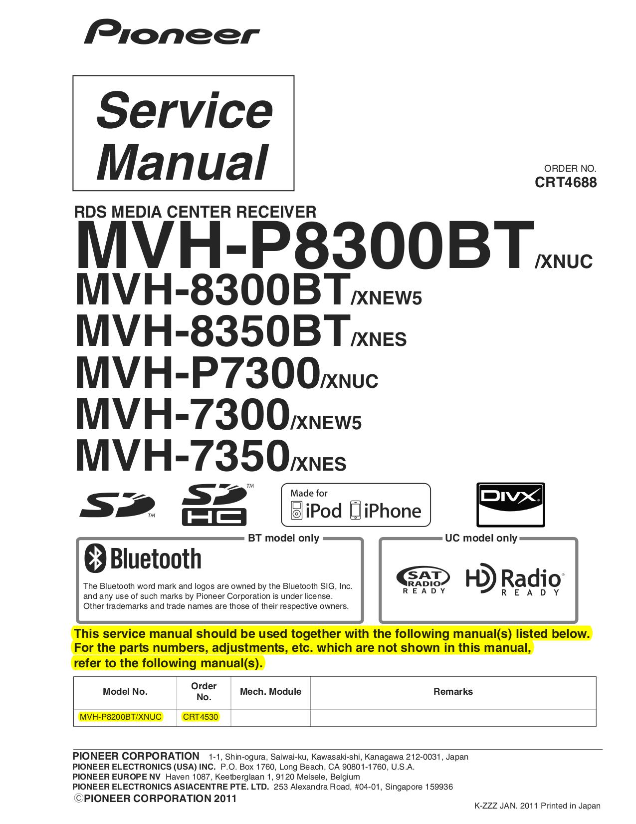 Pioneer mvh 8300bt схема подключения