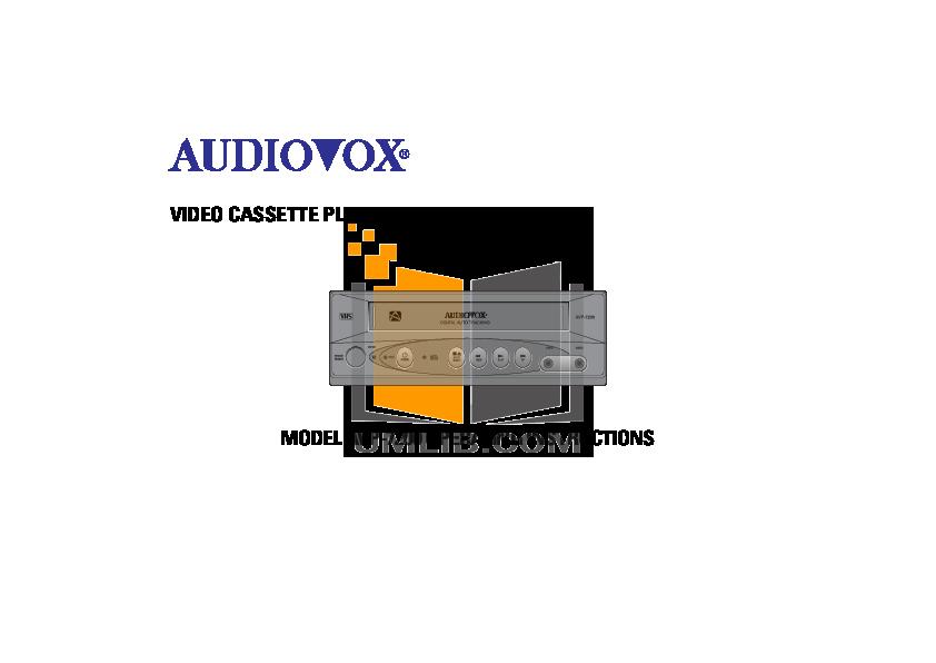pdf for Audiovox TV AVT-1498 manual