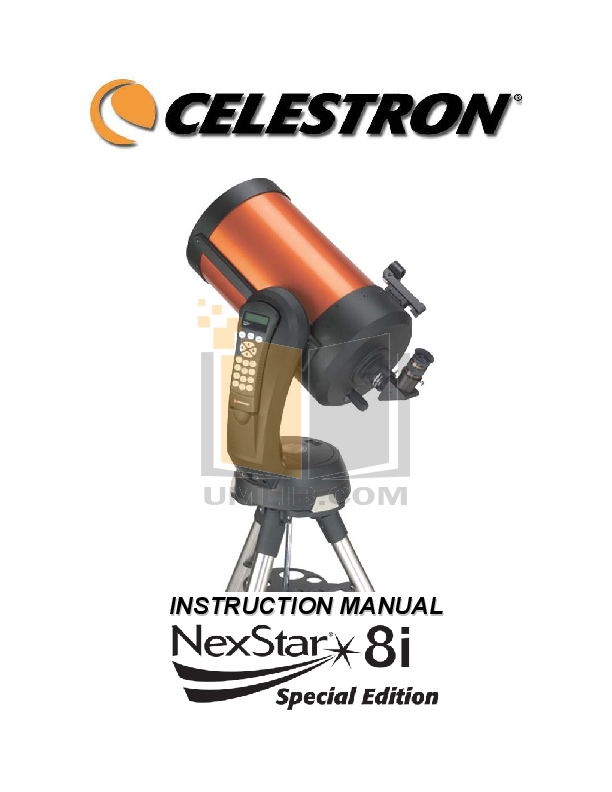 download free pdf for celestron nexstar 8se telescope manual rh umlib com celestron nexstar 8 se manuel celestron nexstar evolution 8 user manual