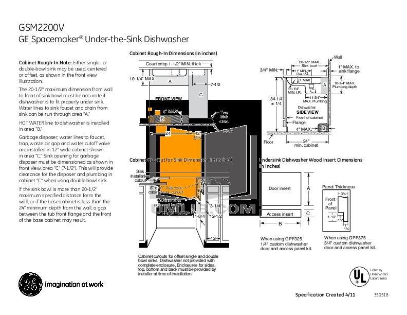 general electric nautilus dishwasher manual