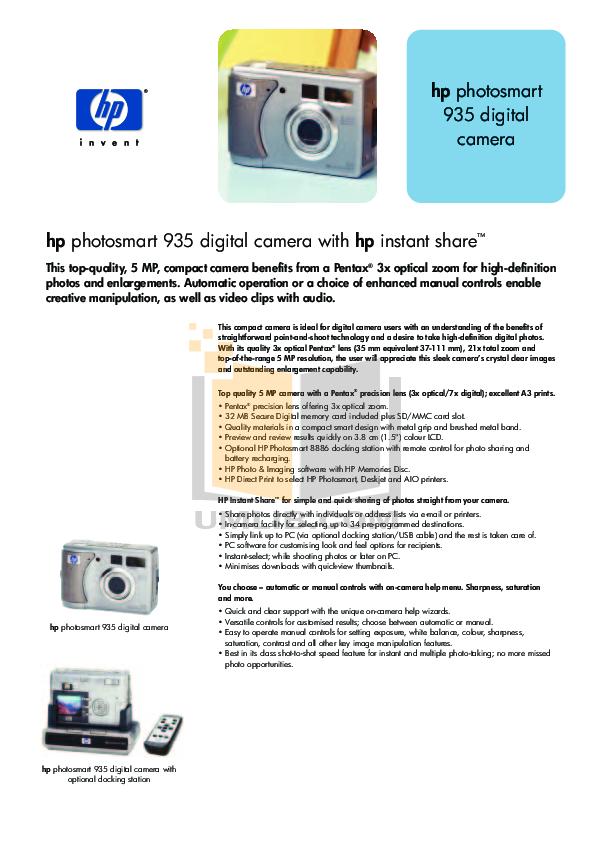 download free pdf for hp photosmart 935 digital camera manual rh umlib com Photosmart Manual Digital HP Camera Mz674 Photosmart M527 Camera