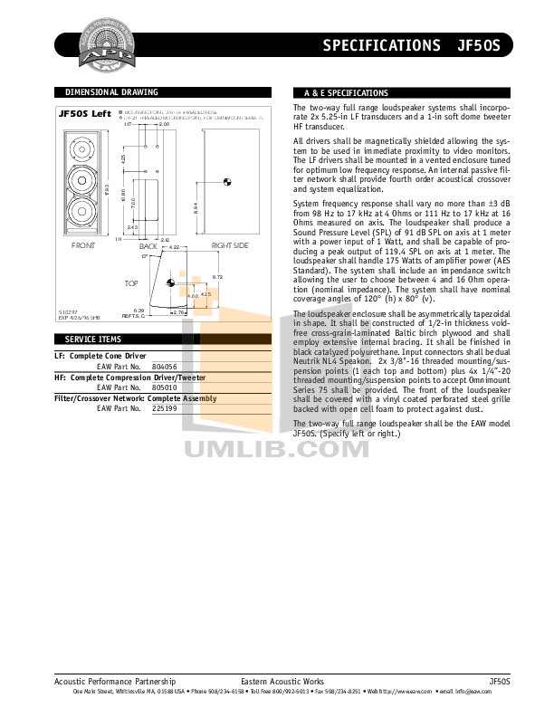 pdf manual for eaw speaker jf50s rh umlib com User Training Kindle Fire User Guide