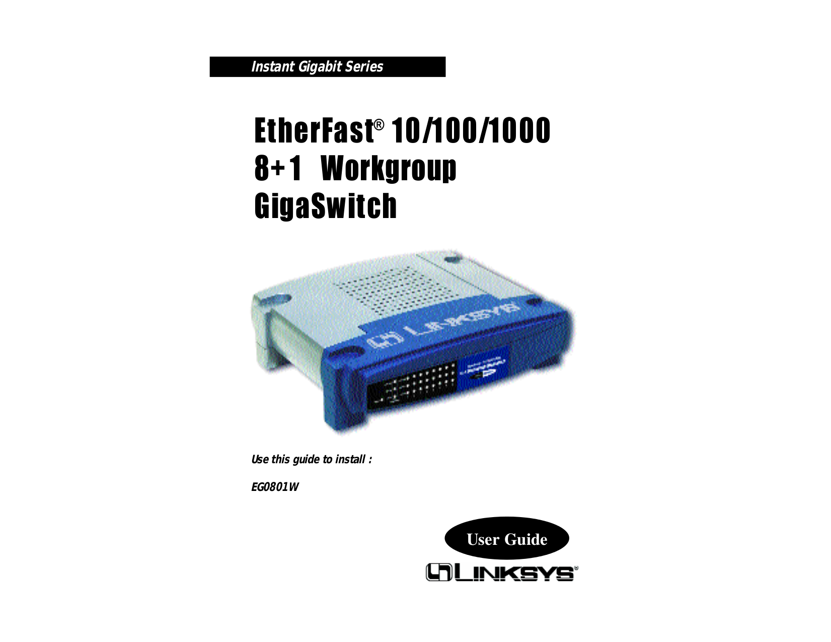 pdf for Linksys Switch EG0801W manual