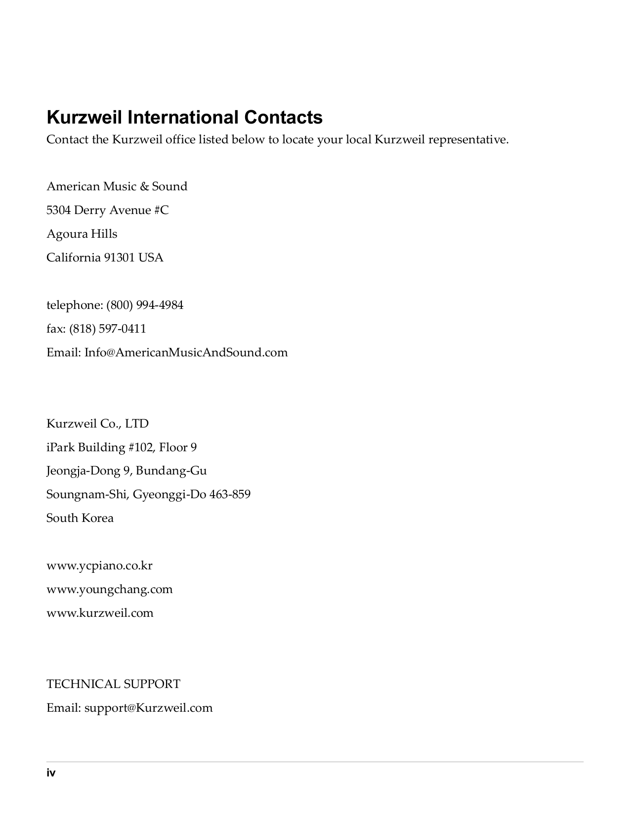 Kurzweil Music Keyboard K2600xs pdf page preview