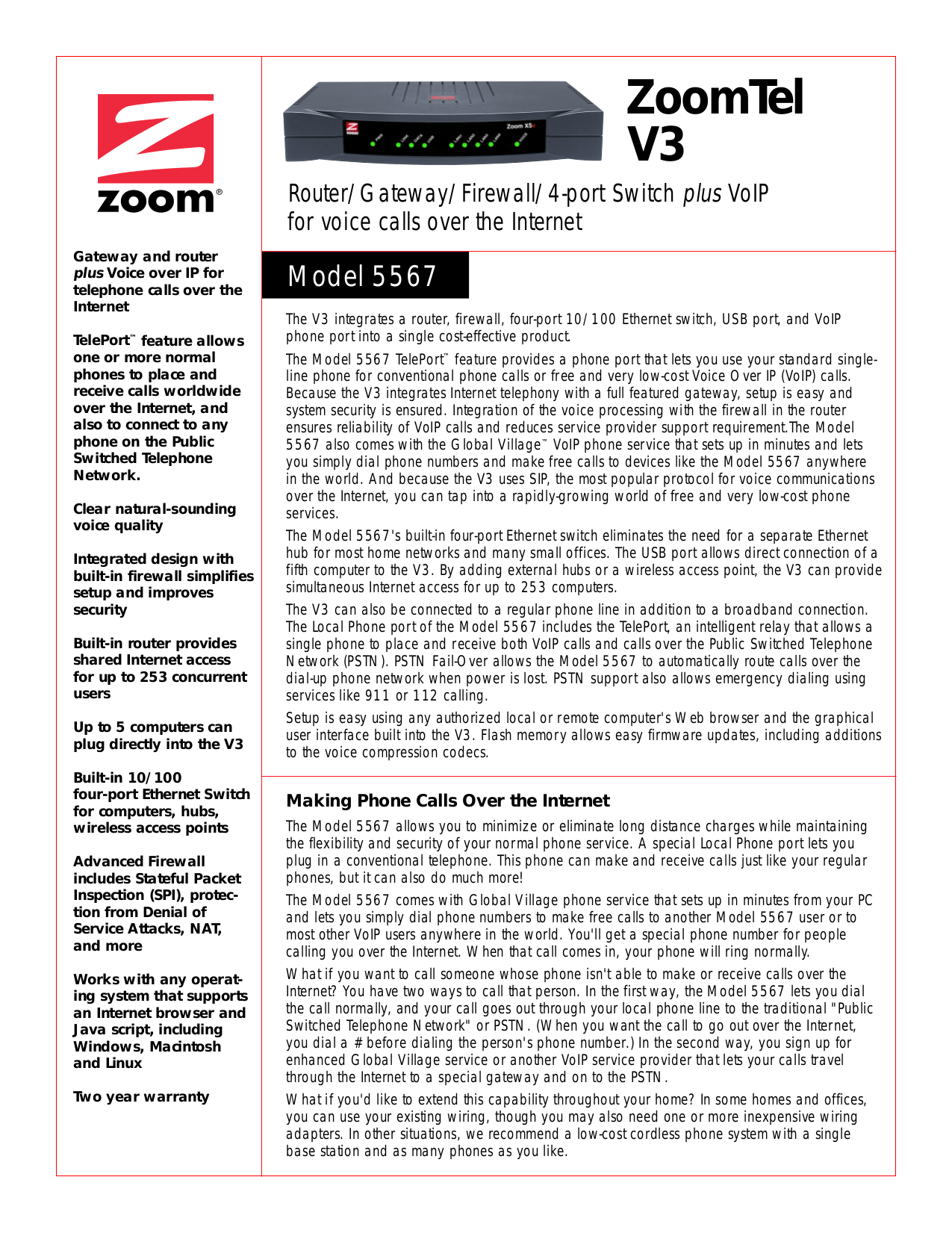 pdf for Zoom Router V3 5567 manual
