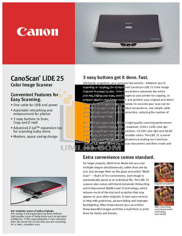 download free pdf for canon canoscan lide 25 scanner manual rh umlib com canoscan lide 25 manual pdf canon canoscan lide 25 service manual