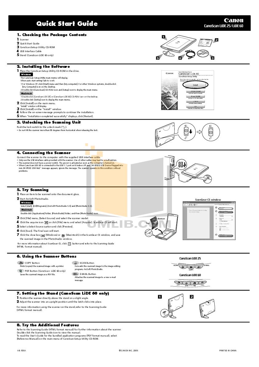 download free pdf for canon canoscan lide 25 scanner manual rh umlib com canoscan lide 25 user manual canoscan lide 25 user manual