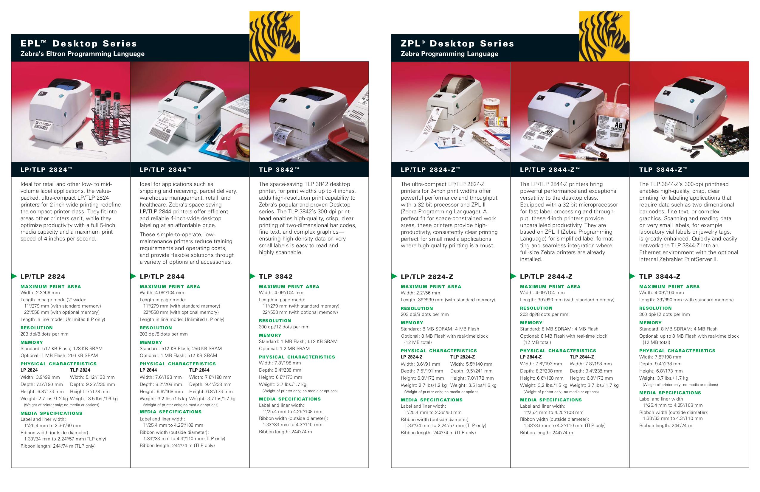 PDF manual for Zebra Printer TLP 3842