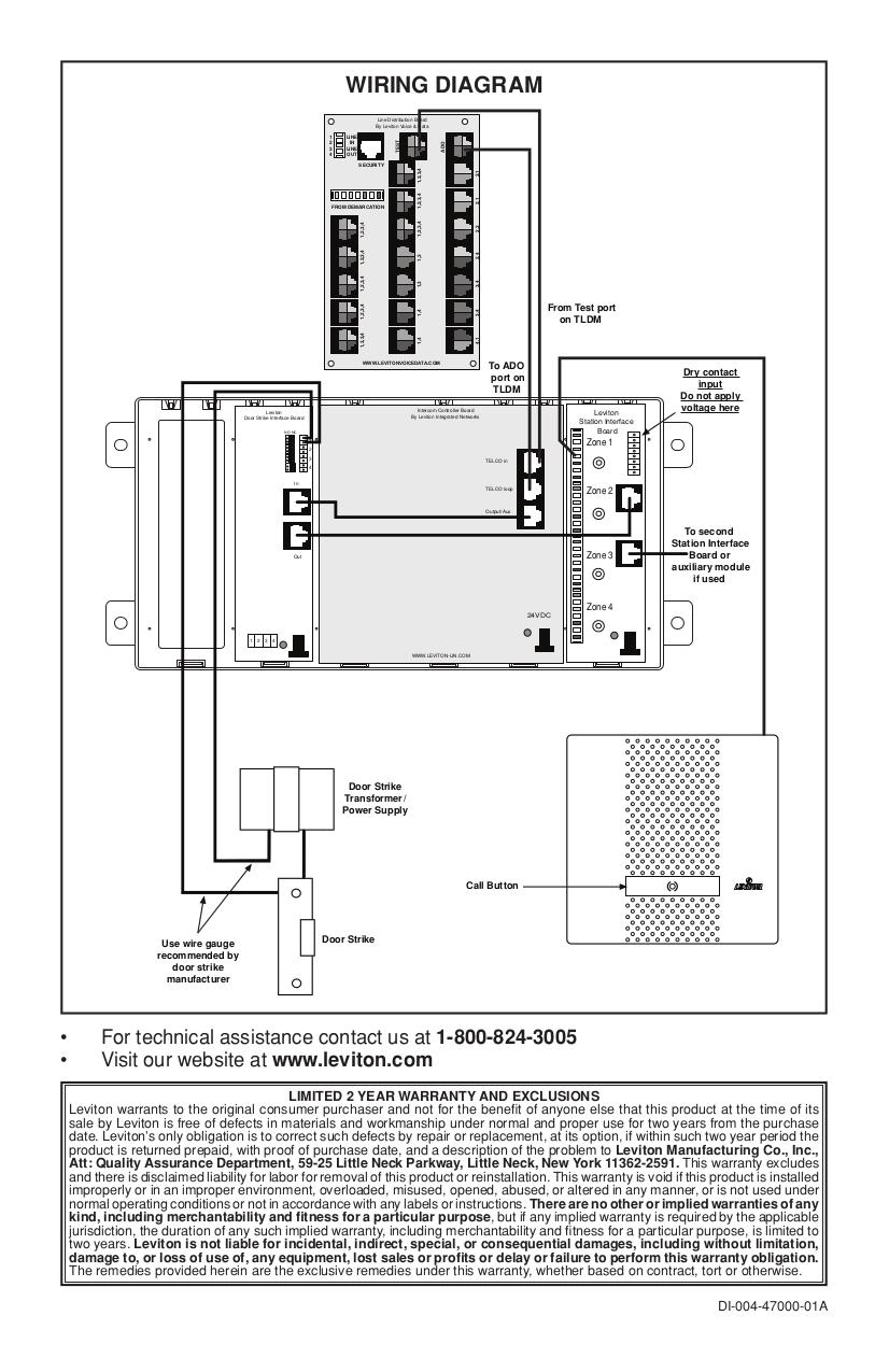 Str Intercom Wiring Diagram Systems