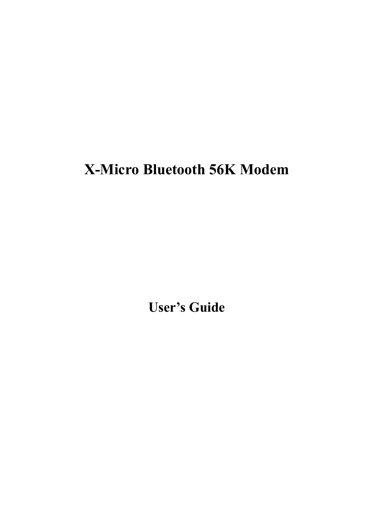pdf for X-Micro Other XBT-AM2 Modems manual