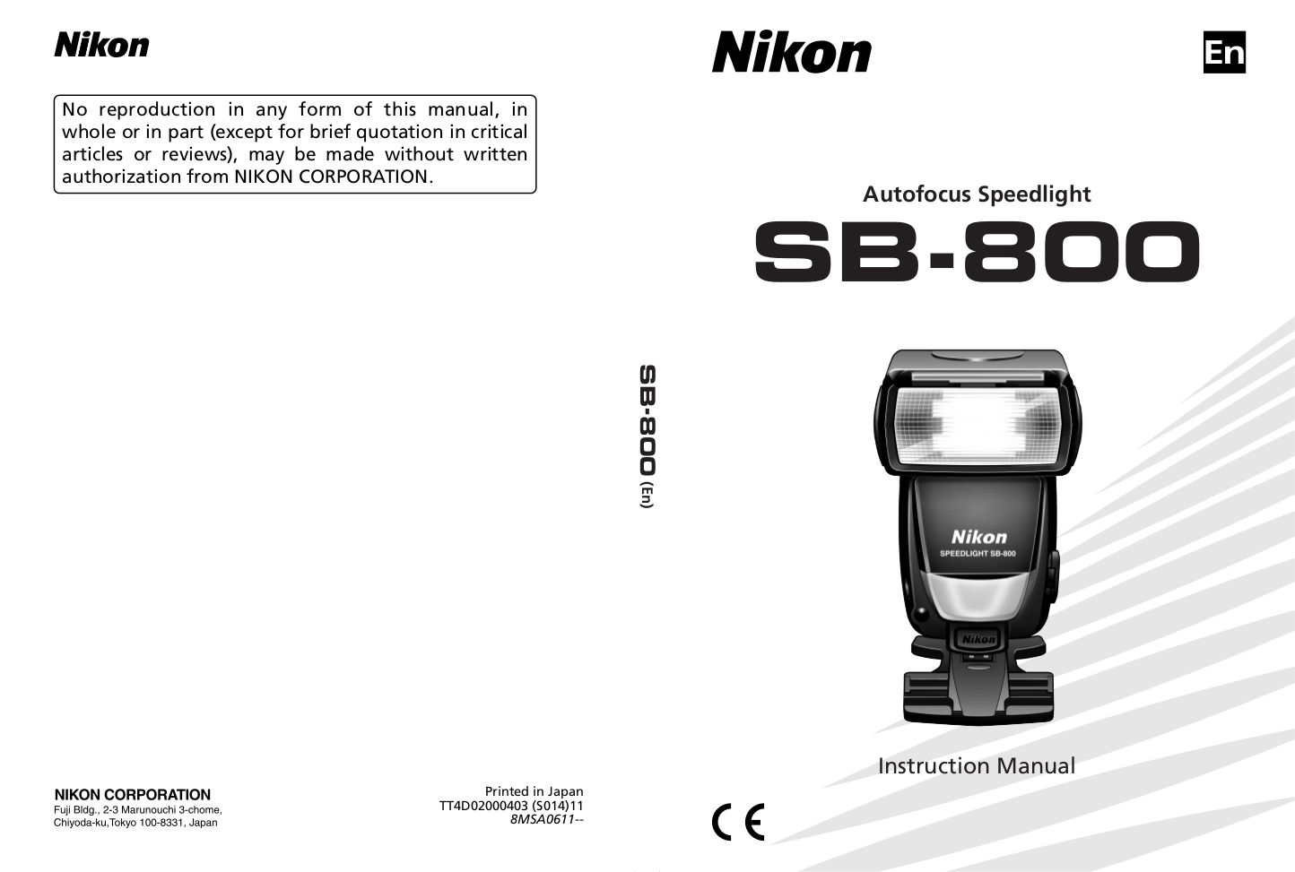 Nikon Other SB-80DX Camera Speedlights pdf page preview